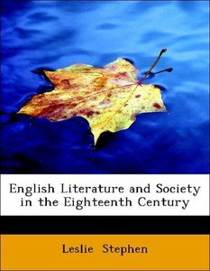 English Literature and Society in the Eighteenth Century