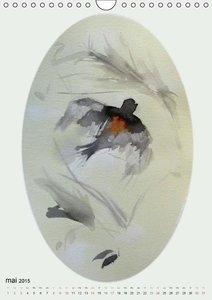 Les oiseaux de Carros (Calendrier mural 2015 DIN A4 vertical)