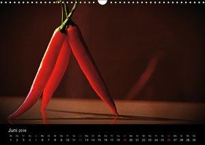 Hot Chili Küchen Kalender Schweizer KalendariumCH-Version (Wandk