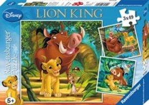 Ravensburger 09395 - Simba, der kleine König, 3 x 49 Teile Puzzl