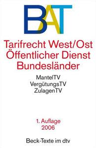 BAT - Tarifrecht West / Ost Öffentlicher Dienst Bundesländer