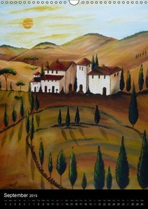 Tuscany so beautiful / UK-Version (Wall Calendar 2015 DIN A3 Por