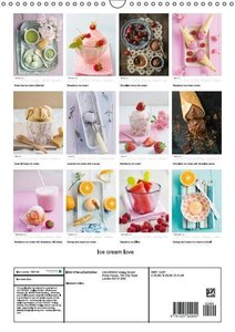 Ice cream love (Wall Calendar 2015 DIN A3 Portrait)