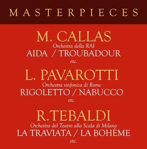 Masterpieces with Pavarotti,Callas & Tebaldi