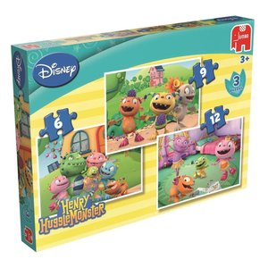 Jumbo 17471 - Disney Henry Huggle Monster - 3in1 Puzzle