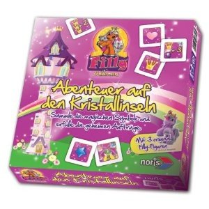 Noris 606017358 - Filly Unicorn: Abenteuer auf den Kristallinsel