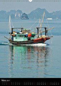 Ha Long Bay, Kreuzfahrt in Vietnam (Wandkalender 2017 DIN A3 hoc