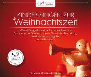 Kinder singen zu Weihnachten