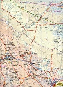 Saudi Arabia & Kuwait Travel Reference Map 1 : 1 750 000 / 1 : 3