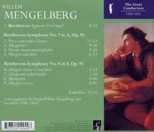 Egmont Overture/Sinfonie 7 & 8