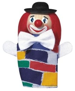 Kersa Fipu 40240 - Handpuppen Clown (lacht), 10 cm