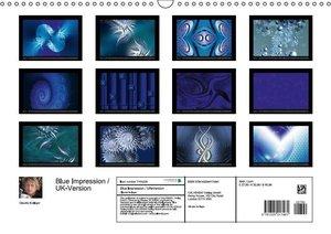 Blue Impression / UK-Version (Wall Calendar 2015 DIN A3 Landscap