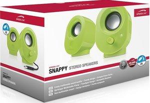Speedlink SNAPPY Stereo Speakers, Lautsprecher, grün