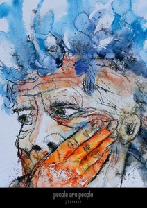 people are people » watercolors by j.benesch (Posterbuch DIN A3