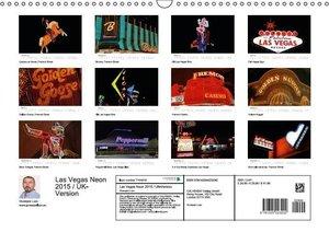 Las Vegas Neon 2015 / UK-Version (Wall Calendar 2015 DIN A3 Land