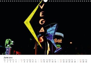 Las Vegas Neon 2015 / UK-Version (Wall Calendar 2015 DIN A3 Land