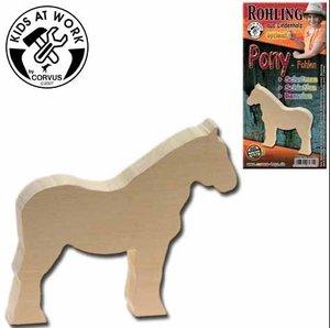 Corvus A600712 - Schnitzholz Pony-Fohlen
