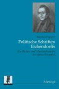 Die Staatsidee Joseph von Eichendorffs und ihre geistigen Grundl