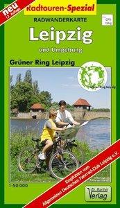 Grüner Ring Leipzig und Umgebung 1 : 50 000. Radwanderkarte