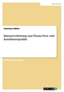 Klausurvorbeitung zum Thema Preis- und Konditionenpolitik