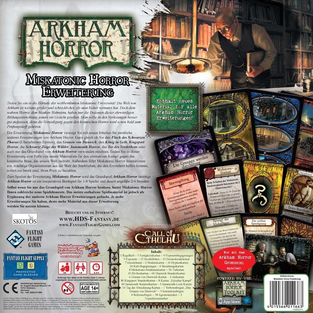 Heidelberger Spieleverlag HE413 - Arkham H.: Miskatonic Horror, - zum Schließen ins Bild klicken