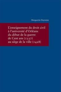 L'enseignement du droit civil à l'Université d'Orléans du début