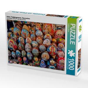 Arbat, Fußgängerzone, Souveniers 1000 Teile Puzzle quer
