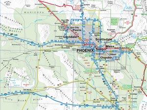 Arizona 1 : 825 000. Straßenkarte