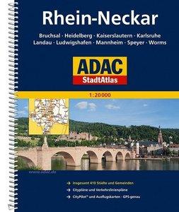 ADAC Stadtatlas Großraum Rhein-Neckar 1 : 20 000