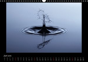 Tropfenfotografien (Wandkalender 2016 DIN A3 quer)