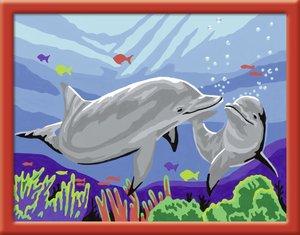 Ravensburger - MNZ, Malen nach Zahlen: Delfine