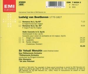Violinkonzert/Violinromanzen