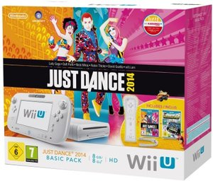 Nintendo Wii U Just Dance 2014, Konsole, BASIC PACK, weiss + Nin