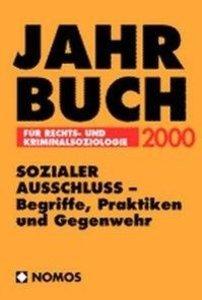 Jahrbuch für Rechts-und Kriminalsoziologie 2000