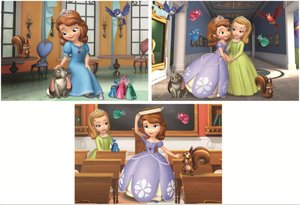 Jumbo 17477 - Disney Sofia the First - 3in1 Puzzle