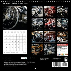 Interior views of old cars (Wall Calendar 2015 300 × 300 mm Squa