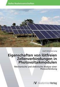Eigenschaften von lötfreien Zellenverbindungen in Photovoltaikmo