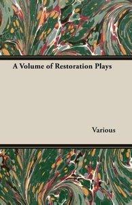 A Volume of Restoration Plays