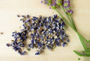 Premium Textil-Leinwand 90 cm x 60 cm quer Getrocknete Lavendelb