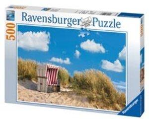 Ravensburger 14208 - Einsamer Strandkorb, Puzzle, 500 Teile