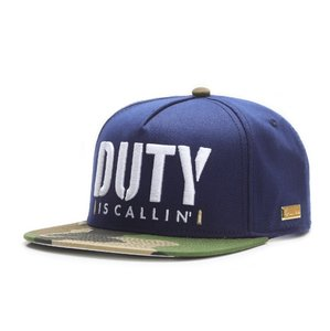 HOG - DUTY is Callin Cap (Flat Cap) - Blau