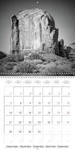 Monument Valley - Black & White Scenic Views (Wall Calendar 2015