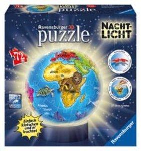 Ravensburger 12142 - Nachtliche Kindererde, 3D puzzleball®, 72 T