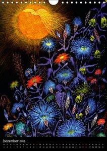 Wilde Iris-, Lilien- und Kornblumen-Zeichnungen (Wandkalender 20