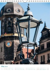Dresden Street Lamps UK-Version (Wall Calendar 2015 DIN A4 Portr