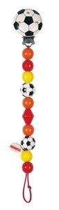 Goki 763590 - Schnullerkette Fußball, rot