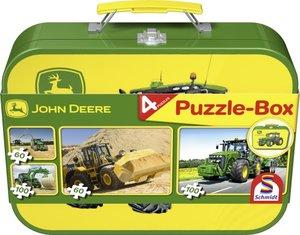 Schmidt Spiele 55590 - John Deere: Puzzle-Box 2x60, 2x100 Teile