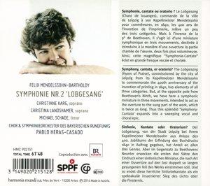 """Symphonie No. 2 """"Lobgesang"""""""