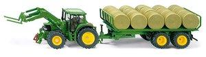 SIKU 3862 - Traktor mit Rundballenanhänger
