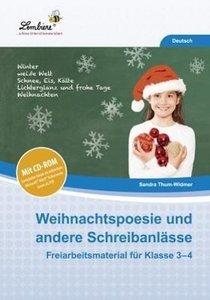 Weihnachtspoesie und andere Schreibanlässe. Kopiervorlagen, Heft